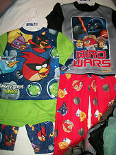 *NWT NEW BOYS 3PC Angry Birds STAR WARS SPACE Pajama Set ALL YEAR 2 4