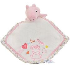 Peppa Pig Nursery Collection Baby Comforter Comfort Blanket Soft Toy Blankie