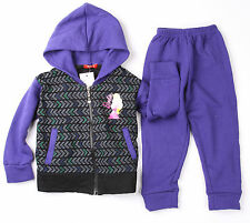 BA GIRLS BARBIE PRINCESS TRACKSUIT HOODIE JACKET OUTFIT SET