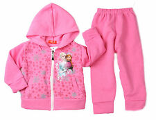 BE GIRLS FROZEN ELSA ANNA TRACKSUIT HOODIE JACKET OUTFIT SET