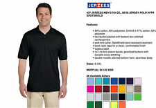 Jerzees Polo Shirt Men's Short Sleeve Jersey with SpotShield 437 New S-4XL