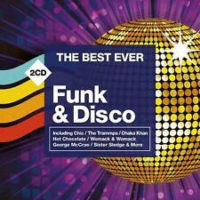THE BEST EVER FUNK & DISCO Various Artists NEW & SEALED 2x CD (Rhino) Rel 24/6