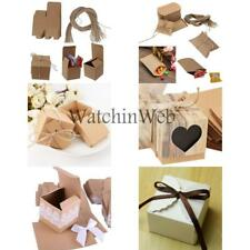 50Pcs Kraft Paper Candy Gift Boxes Wedding Party Favors 6 Styles
