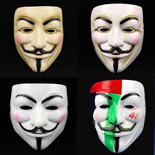 V for Vendetta Costume Mask Guy Fawkes Anonymous Halloween Cosplay HalfFace Mask