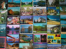 100 Postcards of THE UNITED STATES. 1970's onwards. All used...