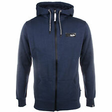 MENS GIO GOI ZIP UP HOODED TOP STYLE VANTAGE - NAVY BLUE