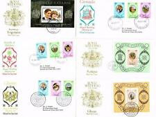 1981 CHARLES AND DIANA WEDDING 98 FIRST DAY COVERS INCLUDING UNUSUAL ISSUES