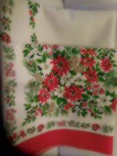 VINTAGE CHRISTMAS TABLECLOTH FROM MARSHALL FIELDS