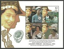 DOMINICA 2002 ROYALTY QUEENS JUBILEE OMNIBUS SPORT POLO M/SHEET MNH