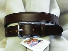 Hand Made English Bridle Leather Belt - Brass or Stainless Buckle