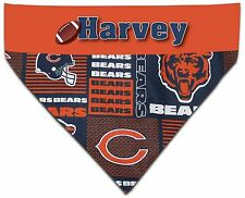 Over the Collar Dog Personalized NFL Chicago Bears Bandana Bandanna