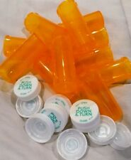 RX  Prescription Medicine Plastic Storage Bottles & Caps BRAND NEW Many Sizes