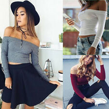 Knitted Stretch Fashion Women Pullovers Fit Long Sleeve Casual Sweaters 1PCS