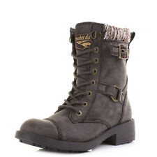 Womens Rocket Dog Thunder Galaxy PU Brown Blankie Military Ankle Boots Shu Size