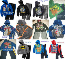 *NEW BOYS 2PC STAR WARS SCOOBY CARS BATMAN Hoodie Winter Outfit Set 2T 3 4 5 6 7