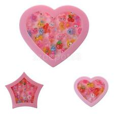 Cute Plastic Rings in Heart Shaped Pink Box Girls Jewelry Party Bag Filler