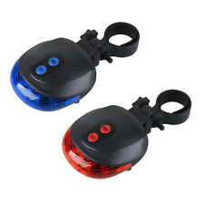 Bicycle Cycling Bike 2 Laser Projector Red Lamps Beam + 5 LED Rear Tail Lights