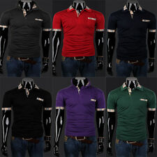 Men Casual Summer Short Sleeve Slim Fit Polo Tee Shirts T-Shirts Tops Pullover