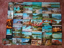 40 Postcards of WEST INDIES / CARIBBEAN ISLANDS. 1950's-1980's. All used.