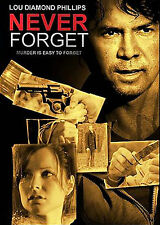 NEVER FORGET, LOU DIAMOND PHILLIPS, DVD