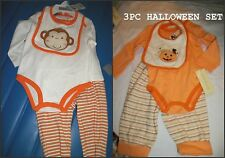 * NWT NEW BOYS 3PC MONKEY DINOSAUR HALLOWEEN WINTER OUTFIT SET 3/6m 6/9M