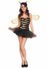 NEW SEXY SEQUINS HONEY BEE BUMBLEBEE Halloween Cosplay Costume
