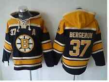 patrice bergeron #37 Bobby Orr #4 Boston Bruins NHL Hockey Jersey Hoodie