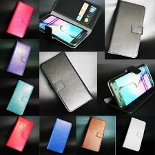 New PU Leather Magnetic Flip Wallet Card Slot Stand Case Cover For HTC/Motorola