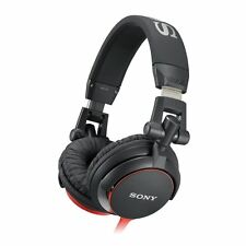 Sony MDRV55 DJ Stereo Headphones Extra Bass Monitor Folding Style  Red
