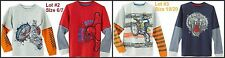 * NWT NEW BOYS Long Sleeve Mocked Layered LOT OF 2 SHIRTS 6 7 18 20