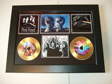 PINK FLOYD   SIGNED FRAMED GOLD CD  DISC   55