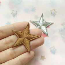 Star Embroidered Applique Iron on Patch Fashion Heat Applique Sew On patch jeans