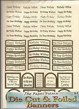 A4 Die Cut & Foiled Banners - Birthday Gold Ivory (050-444)
