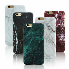Glossy Back Granite Marble Effect Case Cover For Apple iPhone 5 6 6s 7 Plus