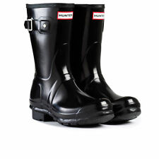 HUNTER ORIGINAL KIDS JUNIORS  WELLINGTON BOOTS - BLACK GLOSS
