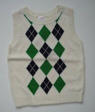 GYMBOREE PREP SCHOOL NWT ARGYLE SWEATER VEST 5 GIRLS NEW FALL FREE SHIP BTS