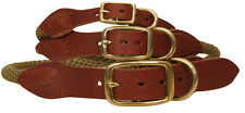 Country Pet Luxury Rope & Tan Leather Dog Collar Large 53-60cm