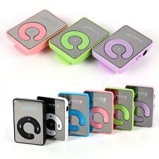 Mini Mirror Clip USB Digital MP3 Music Player Support 8GB TF Card Lot Colors