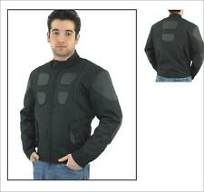 Mens Leather and Textile Motorcycle Biker Jacket Great Deal