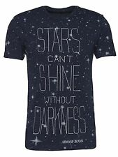 Armani Jeans Mens Stars Can't Shine Without Darkness Blue T-shirt All Sizes BNWT