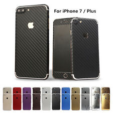 Full Body Sticker Carbon fiber Wrap Decal Screen Film Case For iPhone 7 / Plus