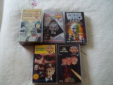 Doctor Who VHS 6 tapes Starring William Hartnell/Jon Pertwee/Partick Troughton