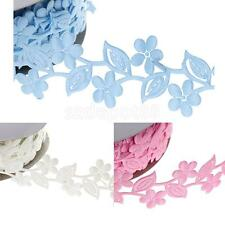 20yards Polyester Flower Lace Sewing Ribbon Trims Wedding Xmas DIY Decor Craft