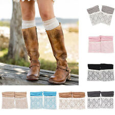 New Women's Crochet Knit Lace Trim Leg Warmers Leggings Cuffs Toppers Boot Socks