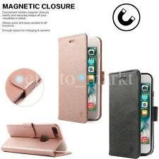 NEW iPhone 7 Plus 5.5'' Magnetic Leather Flip Wallet Card Cover folio Smart Case
