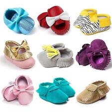 Baby Tassel Soft Sole Leather Shoes Infant Boy Girl Toddler Moccasin Shoes 0-18M
