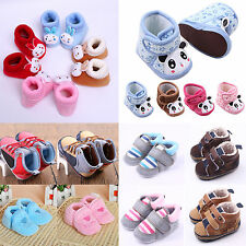 Baby Infant Child Boy Girls Warm Snow Boots Winter Toddler Crib Shoes 0-18Months
