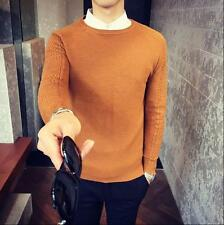 Men's Sweaters Slim Knitwear O-Neck Pullover Coats Tops Casual Sweaters