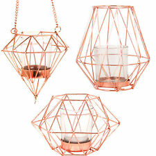 Candle Holder Copper Crush Geometric Tea Light Candle Holders