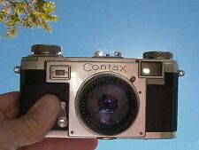 Zeiss Contax lla BD # Y58371 Zeiss-Opton nr. 1013730 Sonnar 50/1.5 lens Red T